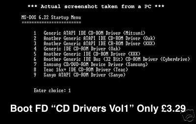 Boot Disk PC Floppy CD Rom Driver Vol 1
